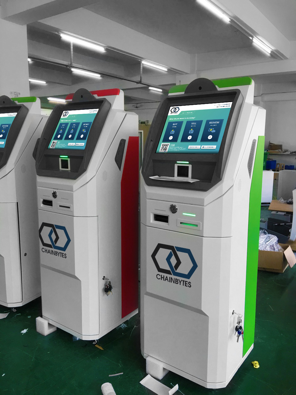 Sell and Buy Bitcoin ATM machines production by ChainBytes
