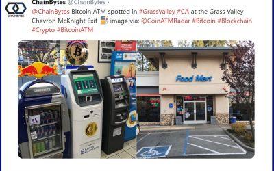 New Bitcoin ATM in California, at the Grass Valley Chevron McKnight Exit