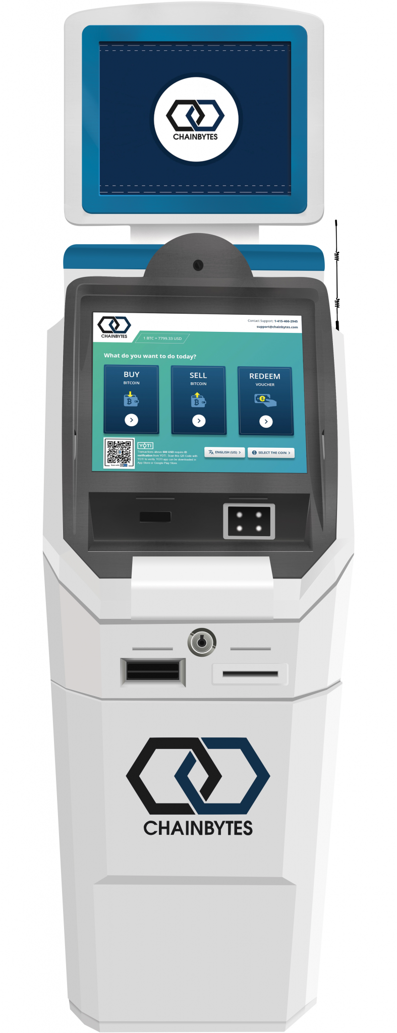 ChainBytes Bitcoin ATM for 2 way transactions f