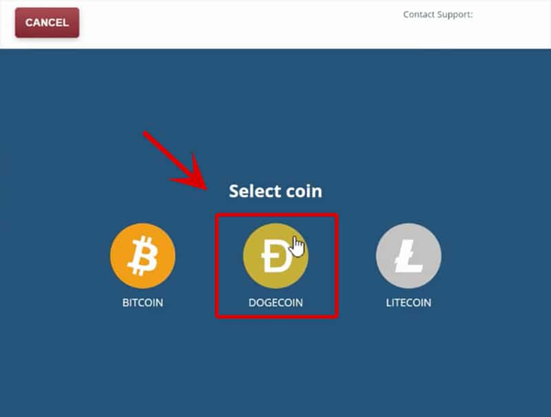 Step 2 Select Doge Coin
