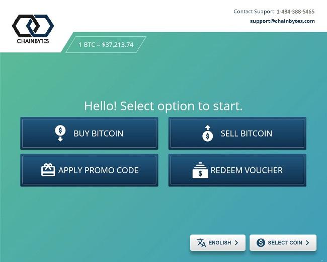 ChainBytes bitcoin ATM software for BTM kiosks